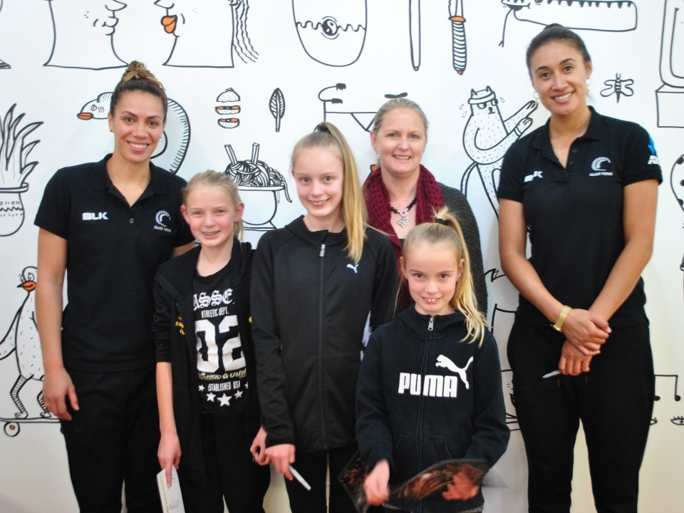 Silver Ferns visit Rainbow Place