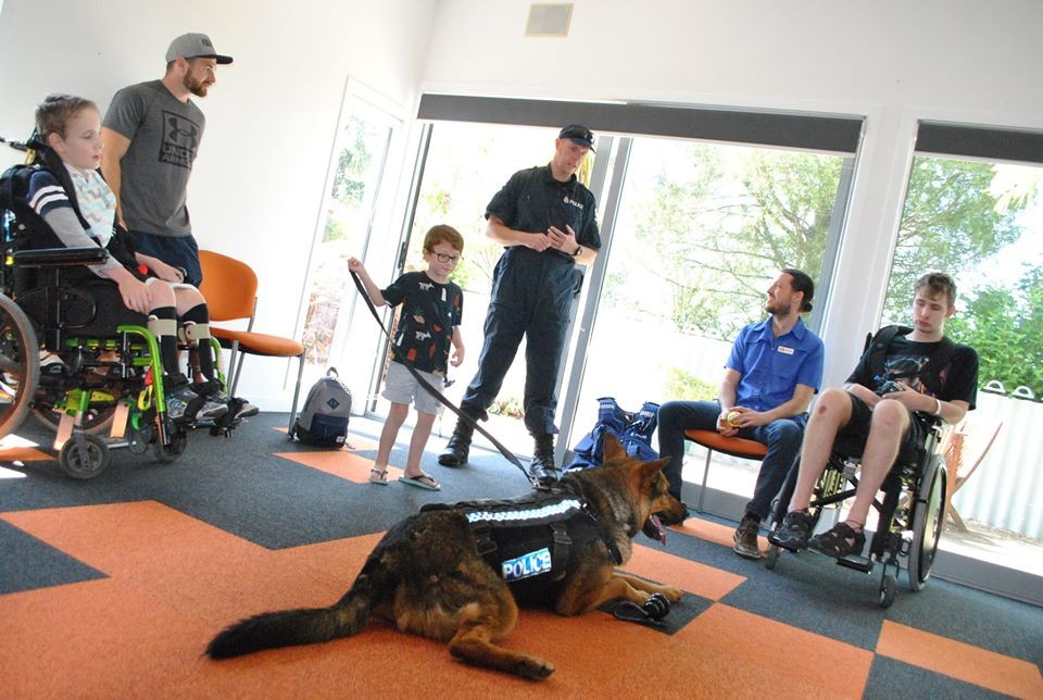 Police Dog Visit at Rainbow Place